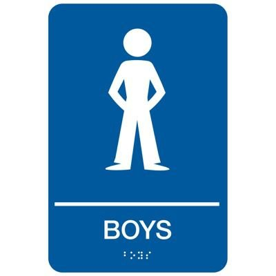 Boys - Economy Braille Signs