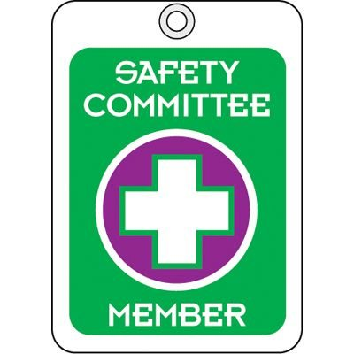 Safety Committee Member ID Tags
