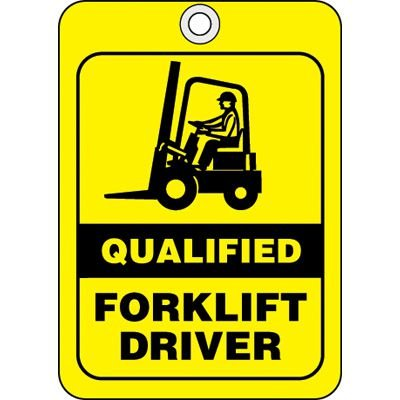 Qualified Forklift Driver ID Tags