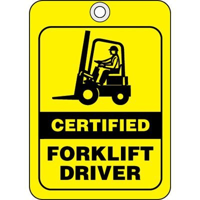 Certified Forklift Driver ID Tags