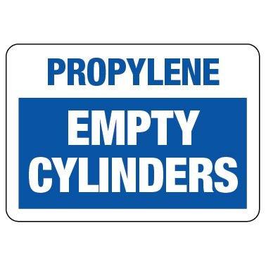 Cylinder Status Sign: Propylene - Empty Cylinders