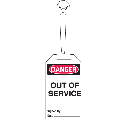 Danger Out Of Service - Lock-On Safety Tags