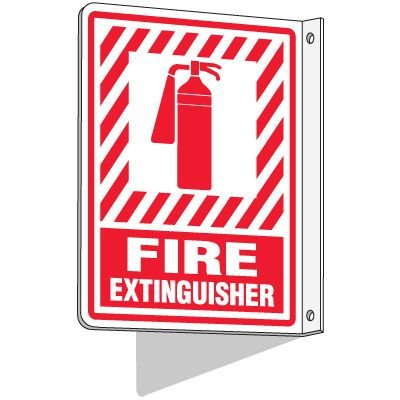 2-Way Fire Extinguisher Sign (With Graphic)