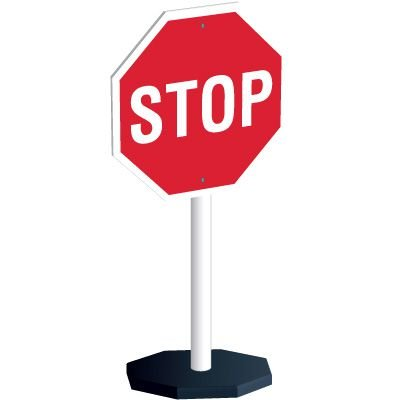 Flexible Stop Sign Stanchion System