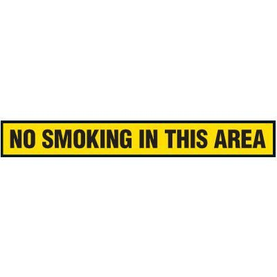 No Smoking In This Area Floor Marking Strips