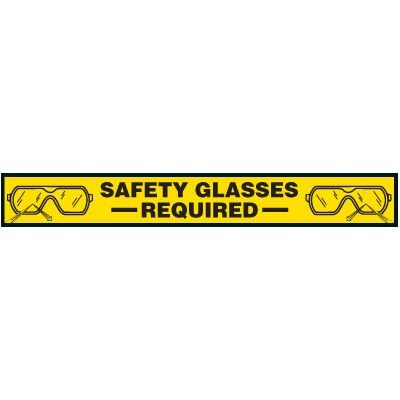 Safety Glasses Required Floor Marking Strips