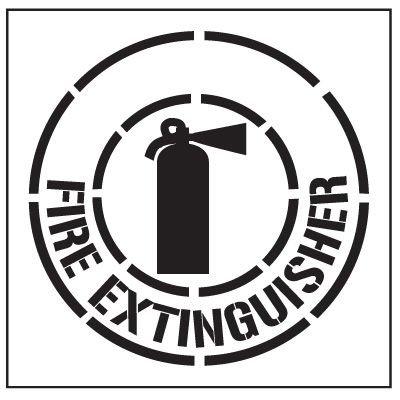 Floor Stencils - Fire Extinguisher