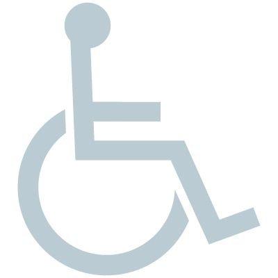 Handicapped Symbol Glass Awareness Labels