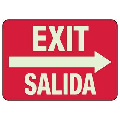 Bilingual Exit / Salida Sign
