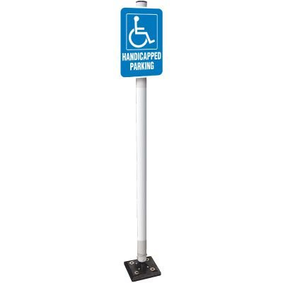 Handicapped Parking Sign Stanchion System
