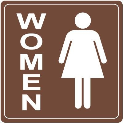 Women's Restroom Decor Signs