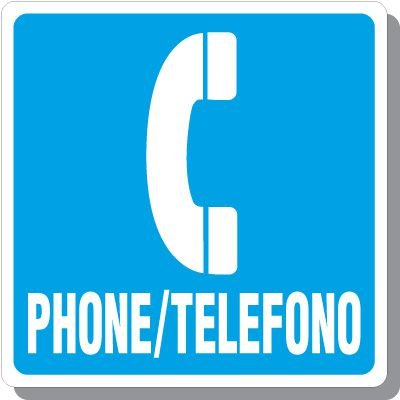 Bilingual Phone Symbol Signs