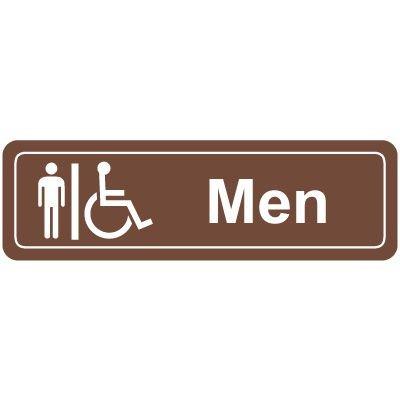 Men's Handicap Restroom Signs