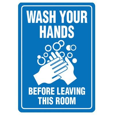 Wash Hands Signs