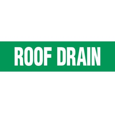 Roof Drain Pipe Markers