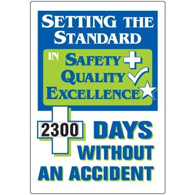 Setting Standard Without  Accident Scoreboard