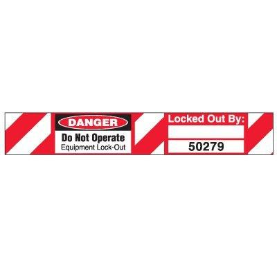 Do Not Operate Padlock Wrap