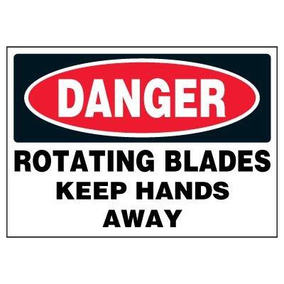 Rotating Blades Warning Markers