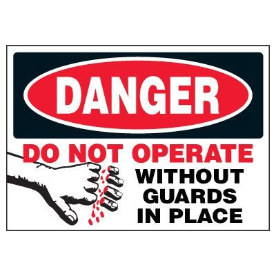 Do Not Operate Warning Markers