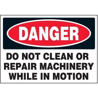 Machine Danger Warning Markers