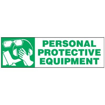 Magnetic Labels - Personal Protective Equipment