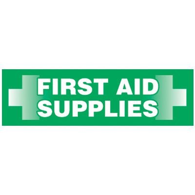 Magnetic First Aid Supplies Storage Cabinet Label