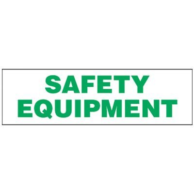 Magnetic Safety Equipment Storage Cabinet Label