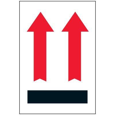 Up Arrows Package Handling Label