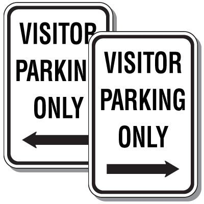 Visitor Parking Only Sign with Arrow