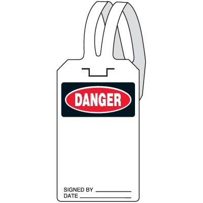 Danger Self-Fastening Tag