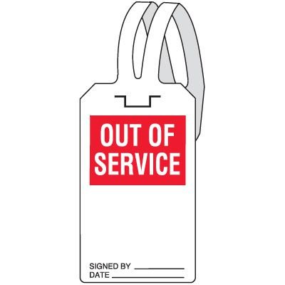 Out Of Service Self-Fastening Tag