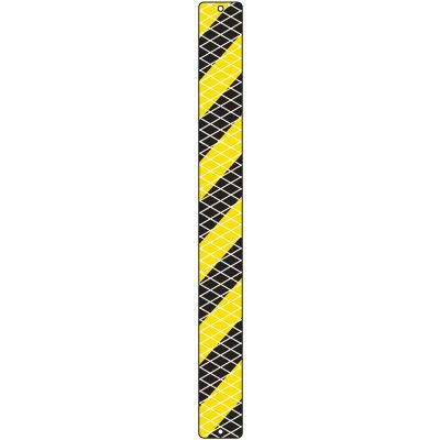 Black And Yellow Reflective Post Panels