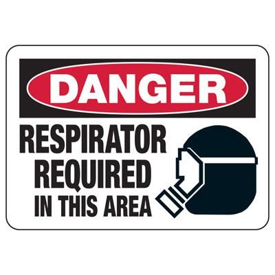 Protective Wear Signs - Danger Respirator Required In This Area