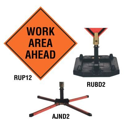 Roll-Up Signs And Stands - Work Area Ahead