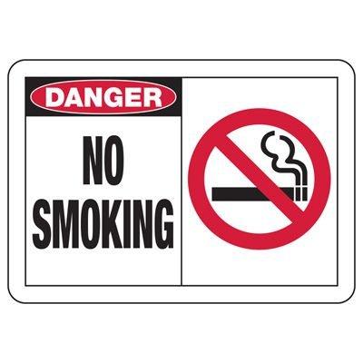 Safety Alert Signs - Danger No Smoking