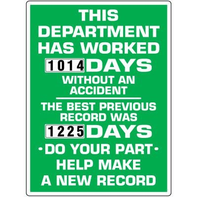 This Department Has Worked Scoreboard