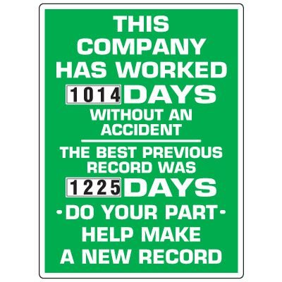 This Company Has Worked Accident Scoreboard