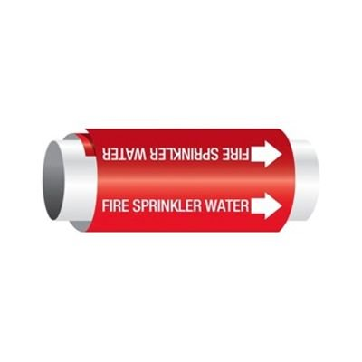 Fire Sprinkler Water - Setmark® Snap-Around Pipe Markers