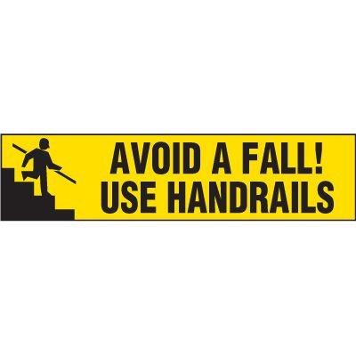 Use Handrails Vinyl Label