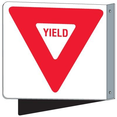 Flanged Traffic Yield Sign