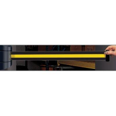 Wall Mount Security Tensabarriers- Yellow and Black - Tensabarrier 897-15-S-33-NO-D4X-C