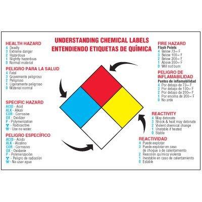 Bilingual Understanding Chemical Labels Wallchart