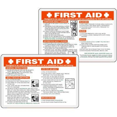 Emergency First Aid Wallet Card