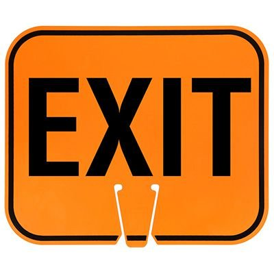 Plastic Traffic Cone Signs- Exit Arrow Sign EXIT