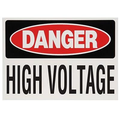 Voltage Warning Labels - Danger High Voltage