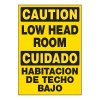 ToughWash® Adhesive Signs - Low Head Room (Bilingual)