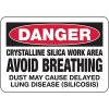 Crystalline Silica Work Area - Silica Safety Signs