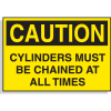 Cylinders Must Be Chained - Hazard Warning Labels