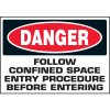 Danger Confined Space Labels