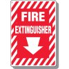 Fire Extinguisher with Arrow Down Signs